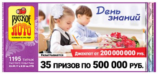 Проверить билет 1195 тиража Русское лото