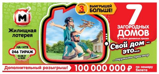 Жилищная лотерея тираж 246
