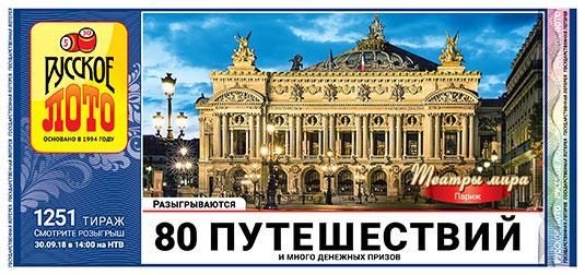 80 путешествий в 1251 тираже русского лото